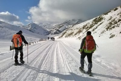 Molise, Trails of Matese in wintertime